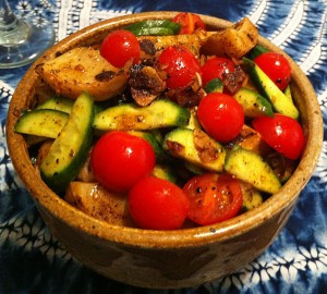 Karl's Turkish Artichoke, Tomato and Cucumber Salad