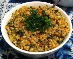 Karl's Zatar Spinach Israeli Couscous