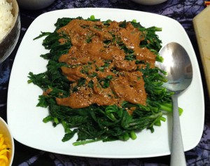 Karl's Japanese Chrysanthemum Greens with Sesame Dressing