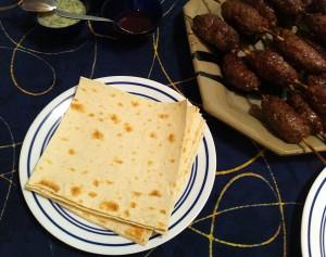 Lavash, Kofta and Three Sauces