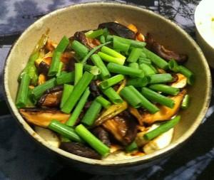 Karl's Fried Tofu and Shiitake Mushrooms