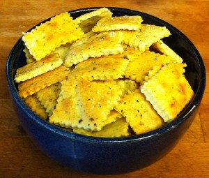 Karl's Rosemary Parmesan Crackers