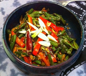 Karl's Sichuan Dry-Fried Long Beans