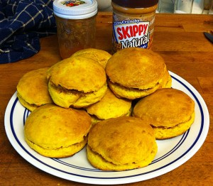 Karl's Sweet Potato Biscuits with PB&J