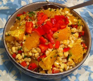 Karl's Garlic Barbecued Corn and Orange Salad