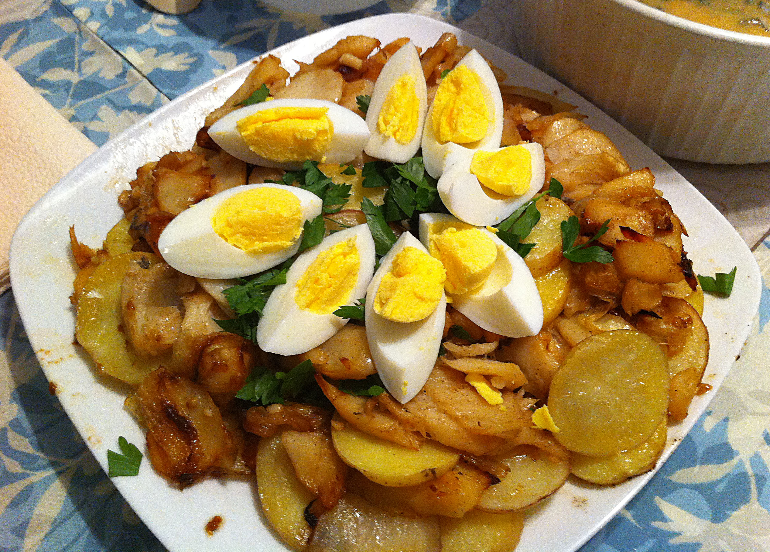 ... salt potato casserole portuguese salted cod egg and potato baked