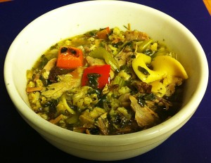 Karl's Wild Turkey Barley Soup