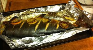 Karl's Baked Salmon with Lemon and Thyme