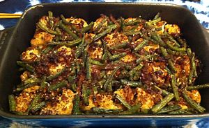 Karl's Sichuan Cauliflower and Green Beans