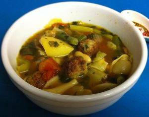 Karl's Minestrone with Mini Italian Meatballs