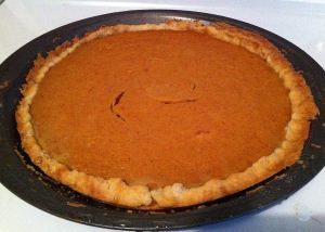 Jan's Persimmon Pumpkin Pie