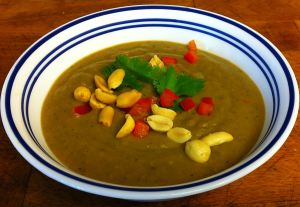 Karl's Maafe Minus (West African Sweet Potato and Peanut Soup)