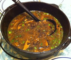 Karl's Asian Mushroom and Wild Rice Soup