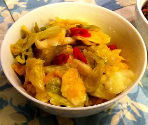 Karl's Salt Pickled Cabbage with Japanese Chilies, Kyabetsu Shio-zuke Tsukemono