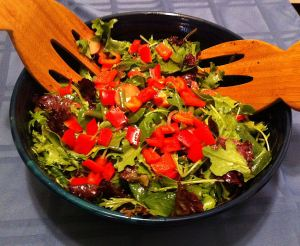 Karl's Mesclun Salad with Lightly Pickled Vegetables
