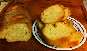 Rustic Italian Bread Baked in a Dry Oven