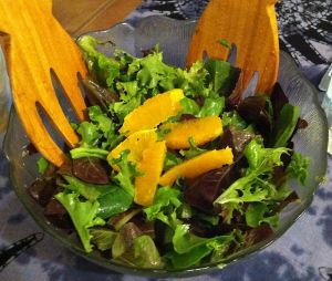 Karl's Orange and Baby Greens Salad with Cuban Vinaigrette