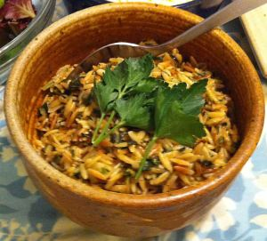 Karl's Spanakorzo (Greek Spinach and Pasta)
