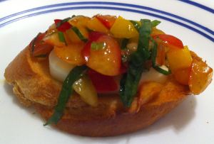 Karl's Cherry Bruschetta