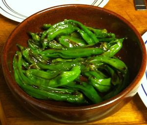 Karl's Pan-roasted Shishito Peppers with Lemon