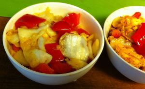 Karl's Sichuan Pickled Cabbage with Red Peppers