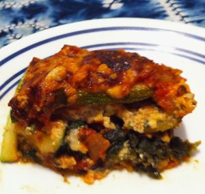 "Karl's Italian Sausage Lasagna with Vegetable ""Noodles"""