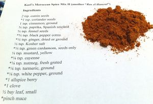 "Karl's Moroccan Spice Mix II (another ""Ras el Hanout"")"