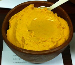 Karl's Roasted Carrot and Red Pepper Hummus