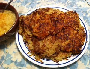 Karl's Tarragon Potato Latkes with Fresh Pear Sauce