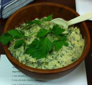 Karl's Vegan Artichoke Spinach Schmear