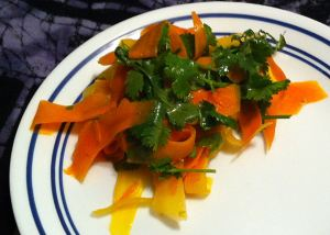 Karl's Carrot Ribbon Salad with Lime Dressing