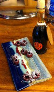 Raspberries with Aceto Balsamico Tradizionale di Reggio Emilia