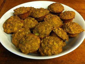 Karl's Peach Banana Oat Mini-muffins