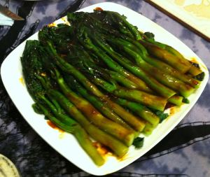 Karl's Chinese Broccoli with Mushroom Sauce