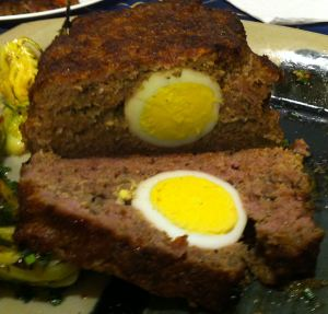 Egg Stuffed Klops (meatloaf)