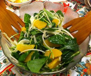 Karl's Spinach, Orange, and Fennel Salad