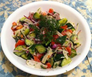Karl's California Fusion Tomato and Cucumber Salad