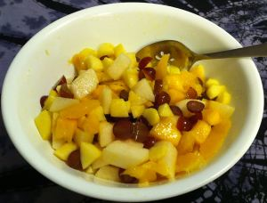 Karl's Grape and Mango Fruit Salad
