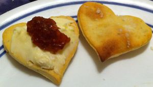 Karl's Rosemary Valentine Crackers with Brie and Fig Jam