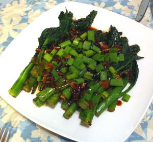 Karl's Chinese Broccoli with Mushroom Sauce II