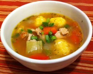 Karl's Paraguayan Bori Bori de Pollo Soup (Chicken and Dumpling Soup)