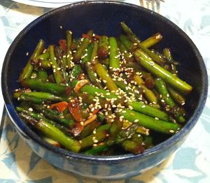 Karl's Sesame Asparagus Stir Fry