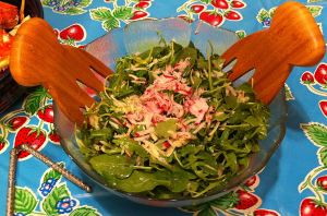 Karl's Arugula and Spinach Salad