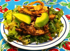 Karl's Chicken Taco Salad with Hot-Pan Salsa