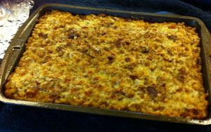 Karl's Mac & Two Cheeses with Bacon & Leeks for a Crowd