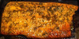 Karl's Mandarin Marmalade Glazed Salmon