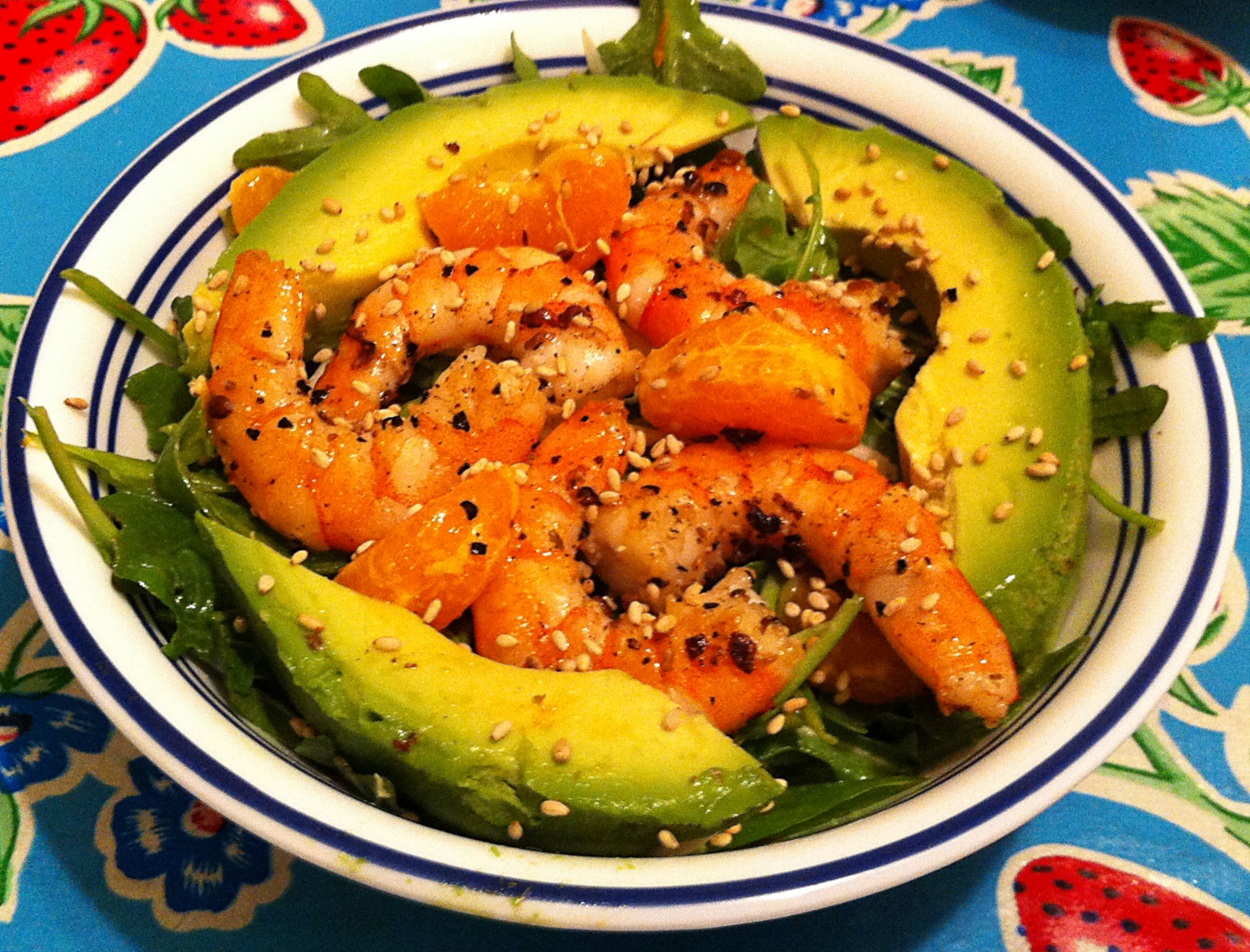 Karl's Szechuan Pepper Shrimp and Arugula Salad | Jabberwocky Stew