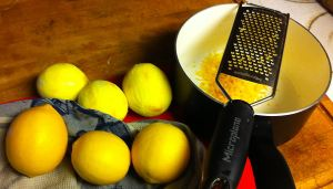 Zesting the limes