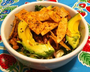 Karl's al Pastor Taco Salad with Hot-Pan Salsa