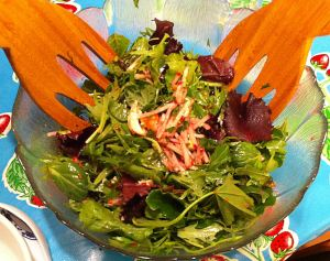 Karl's Leftovers: Salmon Salad with Raspberry Radish Slaw